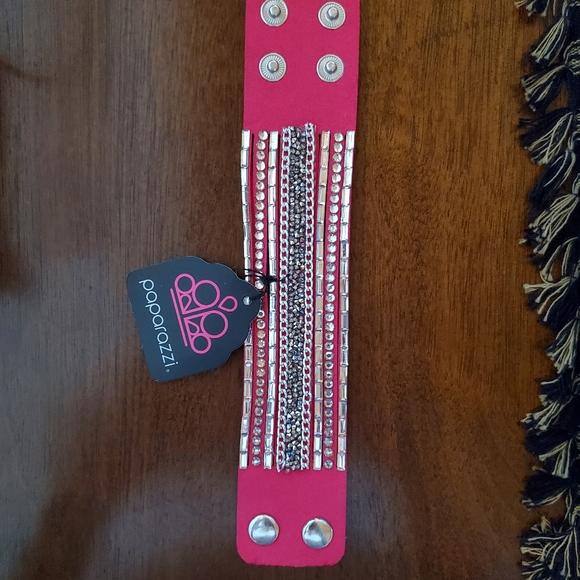 Pinky blingy wrap bracelet